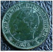 NAPOLEON III 1856 BB  5 CENTIMES STRASBOURG SUPERBE A VOIR !!! - C. 5 Centimes