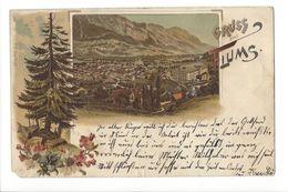 18562 - Gruss Aus Flums Circulée En 1899 (Attention Coin Cassé) - SG St. Gall