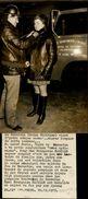 PHOTO DE PRESSE - BARENTIN 76 - Femme Admise Comme Sapeur Pompier 1973 - Métiers