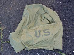 """HOUSSE Pour SAC De COUCHAGE U.S. ARMY W.W. 2  - TRES BON ETAT - Dit """"sac à Viande """" !!! - Uniformes"""