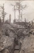 CP Photo Aout 1916 Tranchée Allemande Entre BUCQUOY Et ABLAINZEVELLE (A185, Ww1, Wk 1) - Andere Gemeenten