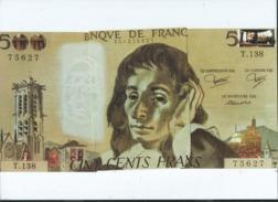 3 CPM -  Puzzle - Billet  500 Francs Pascal -  -(billets ) - France