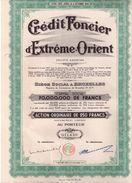 Crédit Foncier D' Extreme-Orient  - 1907 - Textile