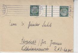 Brief Mit Zusammendruck Aus Hannover 27.4.42 Nach Harpstedt - Germany