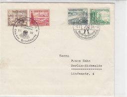 Brief Mit Zusammendrucken Und 2 Sonderstempel Aus Frankfurt 9.1.38 - Germany