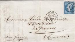 FRANCE - LETTRE CLASSIQUE  PARIS POUR EPENSE MARNE / 1 - Postmark Collection (Covers)