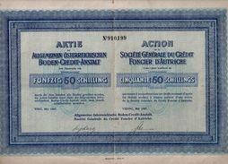 Société Générale Du Crédit Foncier D' Autriche - 50 Schillings  - 1927 - Textile