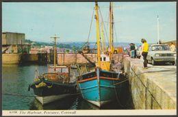 The Harbour, Penzance, Cornwall, 1971 - Harvey Barton Postcard - England