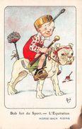 """¤¤   -   ILLUSTRATEUR  """" MICH """"  -   Bob Fait Du Sport  -  L'Equitation  -  Chien    -  ¤¤ - Mich"""