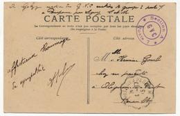 """Carte Postale Avec Cachet """"Section A Poste7 - GVC""""(Gardes Voies Et Communications) - Ligny à Paris 1915 - RESERVE Jp4333 - Postmark Collection (Covers)"""