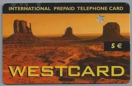 IT.- Country Card. 5 €. WESTCARD. INTERNATIONAL PREPAID TELEPHONE CARD. 2 Scans - Italië