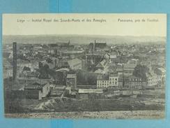 Liège Institut Royal Des Sourds-Muets Et Des Aveugles Panorama, Pris De L'Institut - Liege