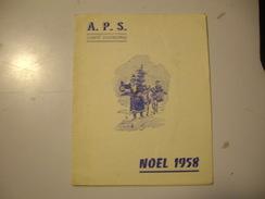 NOEL  1958  A.P.S. Comité D Entreprise Saint -Quentin - Sin Clasificación