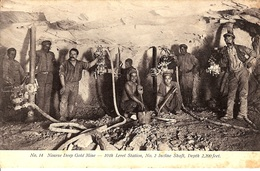 N°14  NOURSE DEEP GOLD MINE  -  10TH LEVEL STATION, NO 2 INCLINE SHAFT, DEPTH 2,200 FEET.  (JOHANNESBOURG) - Afrique Du Sud