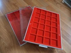 Leuchtturm - 2 Plateaux Rouges 20 Cases Pour étuis HB - Bon état - Supplies And Equipment