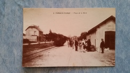 THARON PLAGE - PLACE DE LA GARE - TRAIN - 44 - Tharon-Plage