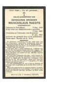 P 380. E. Broeder WENCESLAUS RAEDTS -Minderbroeder- °FALL-MHEER 1859  / +Klooster Te RECKHEIM 1923 - Imágenes Religiosas