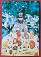 TEMATICA FUNGHI PONTE A MORIANO LUCCA Cartolina Viaggiata Edita Per La  X MOSTRA 1991  Litografia  Di ANTONIO POSSENTI - Altri