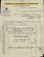 76 - LE HAVRE - Facture - Entrepot Havro Colonial D'importation - Porto - 1932 - France