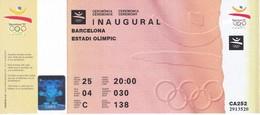 ENTRADA DE LA CEREMONIA DE INAUGURAL DE LAS OLIMPIADAS DE BARCELONA'92 EN EL ESTADI OLIMPIC (COBI) - Juegos Olímpicos