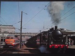 MULHOUSE (Haut-Rhin) - Locomotive 140 C 27 Et T.G.V. De La S.N.C.F. GARE De MULHOUSE -DEPÔT De HAUSBERGEN -Chemin De Fer - Trains