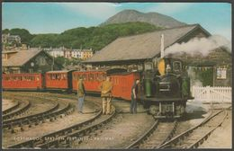 Portmadoc Station, Festiniog Railway, Caernarvonshire, 1974 - Salmon Postcard - Stations - Met Treinen