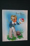 CARTE A SYSTEME ILLUSTRATION BONNE FETE MAMAN STYLE GERMAINE BOURET ANNEES 60 - Illustrators & Photographers