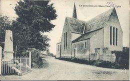 Cp 61 LA CHAPELLE Près SEES Eglise  ( Cimetière Monument Aux Morts Route Mur De Propriété ) - Autres Communes
