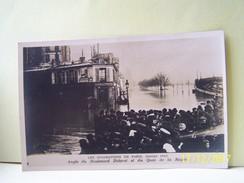 PARIS (12°ARRONDISSEMENT) INONDATIONS DE PARIS. JANVIER 1910. ANGLE DU BOULEVARD DIDEROT ET DU QUAI DE LA RAPEE. - Arrondissement: 12