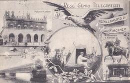 PIACENZA - REGG. GENIO TELEGRAFISTI DISTACCAMENTO DI PIACENZA   VG   AUTENTICA 100% - Piacenza