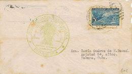 26712. Carta Aerea HABANA (cuba) 1937. Marca Centenario AZUCAR De CAÑA - Cuba
