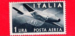 Nuovo - MNH - ITALIA - 1945 - Democratica, Posta Aerea - 1 L. - Stretta Di Mano, Caproni-Campini 1 - Filigrana Ruota - 6. 1946-.. Repubblica