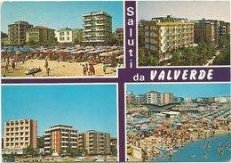 V1187 Saluti Da Valverde Di Cesenatico (Forlì Cesena) - Panorama Vedute Multipla / Viaggiata 1979 - Autres Villes
