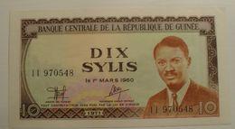 1971 - Guinée - Guinea - DIX SYLIS, Le 1er MARS 1960, Type P. Lumumba, I I  970548 - Guinea