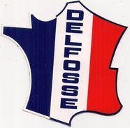 Autocollant  -   Publicité  DELFOSSE    Carte De France - Aufkleber