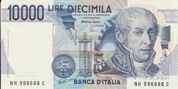 BANCONOTA 10000 MILA LIRE TIPO A. VOLTA SERIE (NH 996686 C) - ORIGINALE 100% - F.D.C. - LEGGI - [ 2] 1946-… : Républic