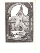 Abbaye Notre-Dame D'Orval-(Florenville)-+/-1955-Vue Des Arcades De La Cour-d'après Une Eau-forte Originale De Geo Fosty - Florenville