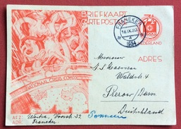 TEMATICA CROCE ROSSA NEDERLEND CARTOLINA CARTE  POSTALE  DA FRANEKER IN GERMANIA IN DATA 18/9/1934 - Croce Rossa