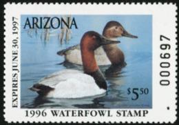 ARIZONA 1996 USA State Ducks Birds Hunting Wildlife Fauna MNH - Vereinigte Staaten