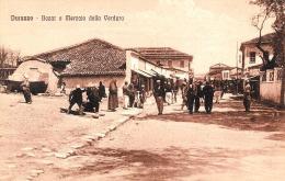 [DC9381] CPA - ALBANIA - DURAZZO - BAZAR E MERCATO DELLA VERDURA - ANIMATA - Non Viaggiata - Old Postcard - Albania