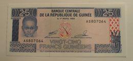 1985 - Guinée - Guinea - 25 FRANCS GUINEENS, Le 1er MARS 1960, A S 807064 - Guinea