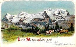 [DC9387] CPA - SVIZZERA - EIGER MONCH JUNGFRAU - Viaggiata 1899 - Old Postcard - BE Berne
