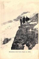 [DC9391] CPA - ESCURSIONE SULLA TESTA GRIGIA (M. 3315) - ANIMATA - Non Viaggiata - Old Postcard - Italia