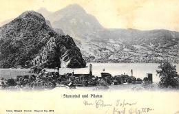 [DC9398] CPA - SVIZZERA - STANSSTAD UND PILATUS - Viaggiata 1899 - Old Postcard - Svizzera
