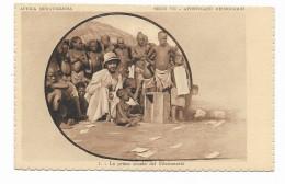 AFRICA MERAVIGLIOSA -LA PRIMA SCUOLA DEL MISSIONARIO   - MISSIONI AFRICANE DI VERONA - NV FP - Missions