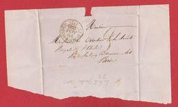 Plis / De La Ferté Gaucher / Pour Paris /  10 Janvier 1840 - Storia Postale
