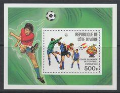 """BLOC NEUF DE COTE D'IVOIRE - COUPE DU MONDE DE FOOTBALL """"ESPANA'82"""" N° Y&T 19 - 1982 – Spain"""