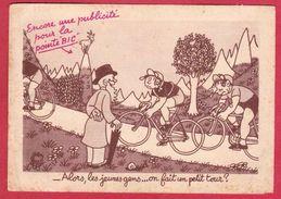 AE63  VELO CYCLISME ALORS LES JEUNES GENS   ON FAIT UN PETIT TOUR PUBLICITE   POINTE BIC STYLO ILLUSTRATEUR J .EFFEL - Cyclisme