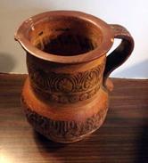 Ancien Pichet Grec En Terre Cuite - Fait Main - Zonder Classificatie