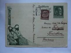 GERMANY - 1938 Postcard - Mi P 273 - Aix La Chapelle To Finistere France - Germany